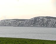 Chalk cliff fronts, near Yarmouth